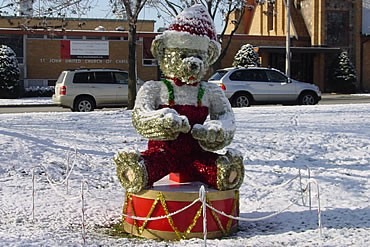 Garland Bear during the day