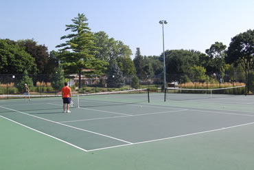 Outdoor Tennis at Pioneer